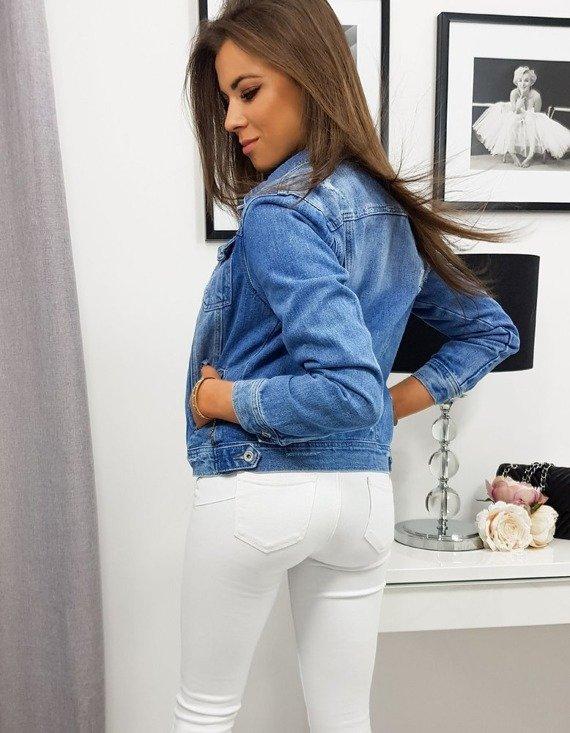 modna jeansowa kurtka damska