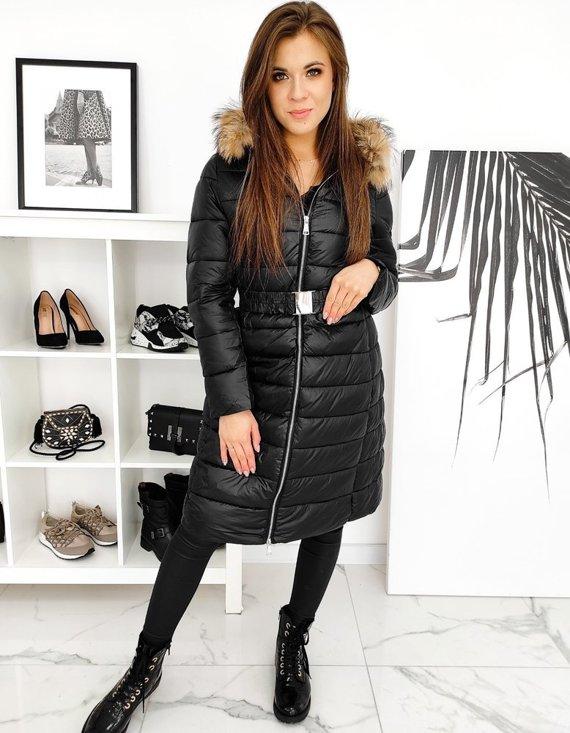 damski płaszczyk zimowy pikowany długi